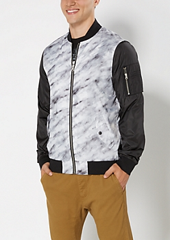 Marbled Bomber Jacket