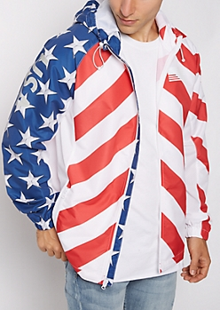 Americana Hooded Windbreaker