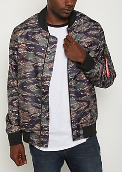 Camo Ready For Flight Bomber Jacket