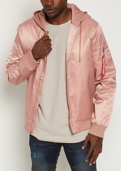 Pink Hooded Ready For Flight Bomber