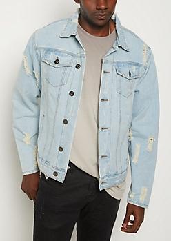 Vintage Destroyed Jean Jacket