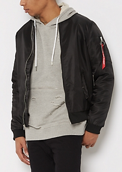 Black Flight Bomber Jacket