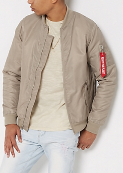 Taupe Flight Bomber Jacket