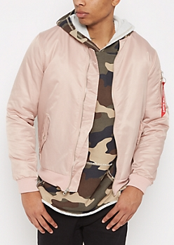 Pink Flight Bomber Jacket
