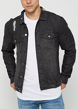 Charcoal Gray Trucker Jean Jacket