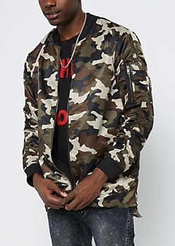Camo Long Length Bomber