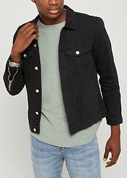 Black Denim Trucker Jacket