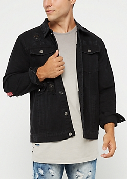 Black Trucker Jean Jacket
