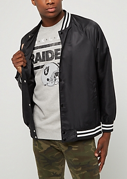 Black Nylon Bomber Jacket