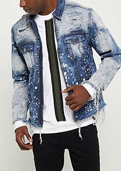 Bleached & Frayed Jean Jacket