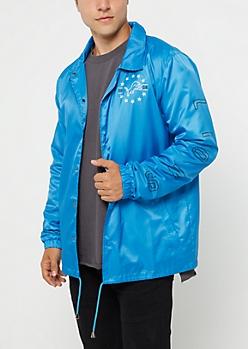 Detroit Lions Logo Coaches Jacket