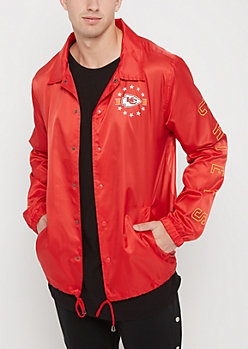 Kansas City Chiefs Logo Coaches Jacket