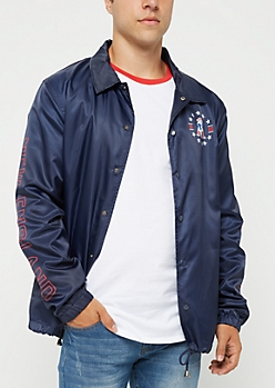 New England Patriots Logo Coaches Jacket