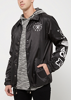 Oakland Raiders Logo Coaches Jacket
