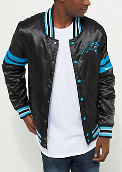 Carolina Panthers Embroidered Logo Bomber Jacket
