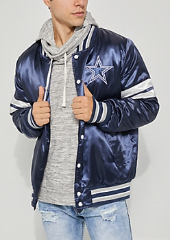 Dallas Cowboys Embroidered Logo Bomber Jacket