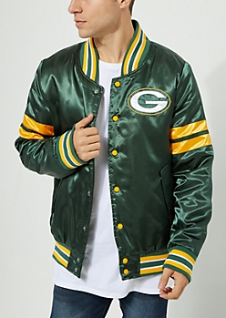 Green Bay Packers Embroidered Logo Bomber Jacket