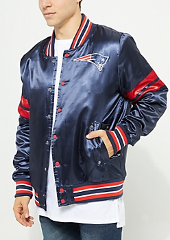 New England Patriots Embroidered Logo Bomber Jacket