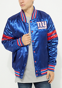 New York Giants Embroidered Logo Bomber Jacket