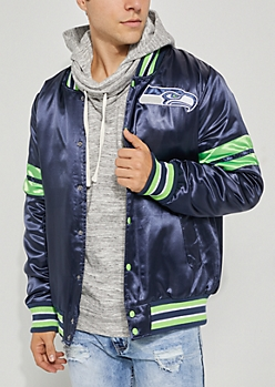 Seattle Seahawks Embroidered Logo Bomber Jacket