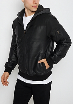 Sherpa Lined Hooded Bomber