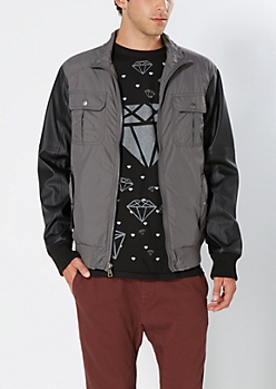 Gunmetal Gray Utility Jacket