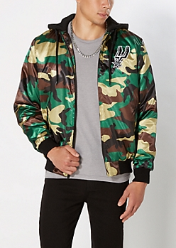 Camo Spurs Bomber Jacket