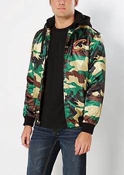 Camo Cavaliers Bomber Jacket