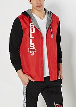 Hooded Chicago Bulls Track Jacket