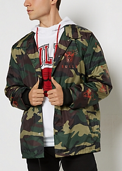 Camo Chicago Bulls Coaches Jacket