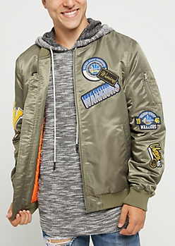 Golden State Warriors Patched Bomber Jacket
