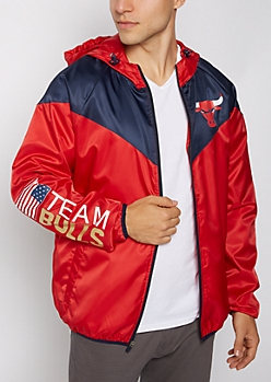 Chicago Bulls Color Block Windbreaker