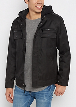 Military Heavy Twill Hooded Jacket
