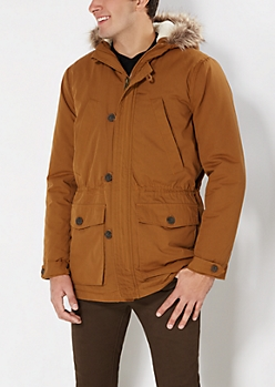 Faux Fur Trim Hooded Anorak