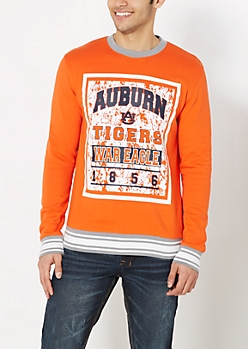 Auburn War Eagle Splattered Sweatshirt