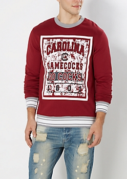 South Carolina Go Cocks Splattered Sweatshirt