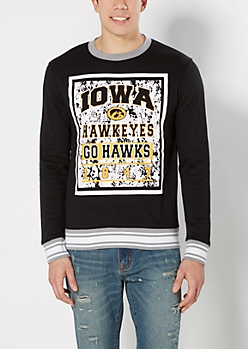 Iowa Go Hawks Splattered Sweatshirt