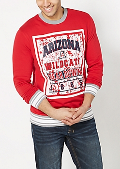 Arizona Bear Down Splattered Sweatshirt