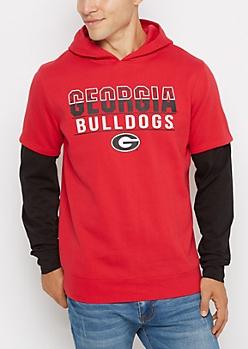 Georgia Bulldogs Layered Hoodie