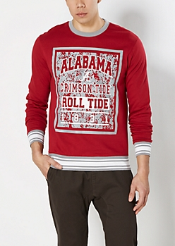 Alabama Roll Tide Splattered Sweatshirt