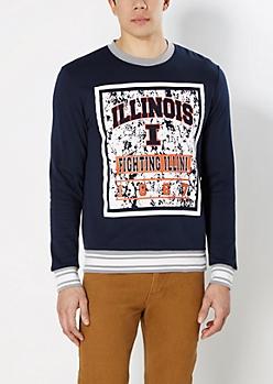 Illinois Fighting Illini Splattered Sweatshirt