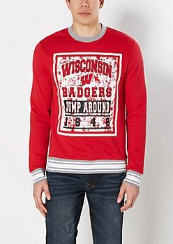 Wisconsin Jump Around Splattered Sweatshirt