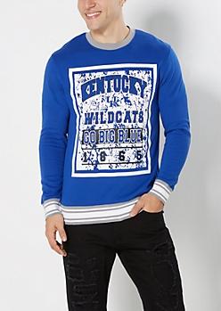 Kentucky Go Big Blue Splattered Sweatshirt