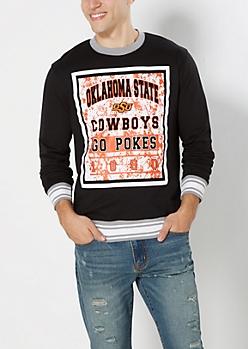 Oklahoma Go Pokes Splattered Sweatshirt