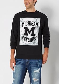 Michigan Wolverines Marbled Sweatshirt