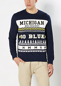 Michigan Wolverines Ugly Holiday Sweatshirt