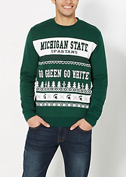 Michigan State Spartans Ugly Holiday Sweatshirt