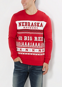 Nebraska Cornhuskers Ugly Holiday Sweatshirt