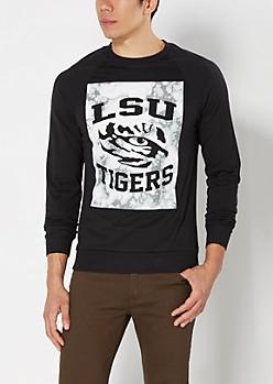 LSU Tigers Marbled Sweatshirt