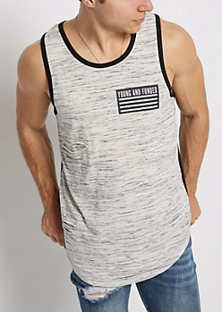Young & Funded Torn Space Dyed Tank Top